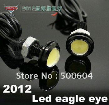 9W High Power LED DRL Daytime running Ultra-thin Car led Eagle Eye Fog light Waterproof License plate Rear Lamp White Color
