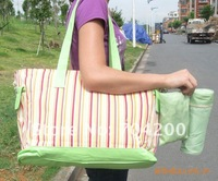 5 sets/lot--striped diaper bags/mammy bag/waterproof mama bag