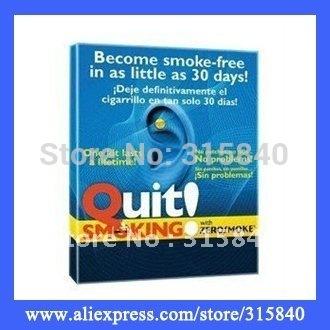 10pcs New 2014 Personal Zero Smoking Sticker Quit Smoking Auricular Magnets Smoking Cessation As Seen As On TV -- MTV47 PA05