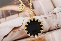 Hot sale! House of Harlow enamel sunflower necklace free shipping wholesale/retailer,12pcs/lot