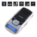 Newest Solar Powered Handsfree Bluetooth Car Kit + FM Transmitter + MP3+cellphone(China (Mainland))