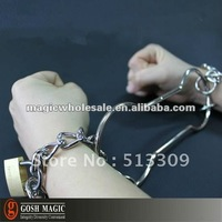 Escape shackles  ,stage magic tricks online,Christmas wholesale magic store China