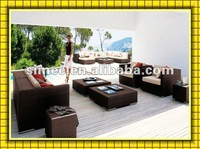 FACTORY HOT SALE modern design low cost rattan garden furniture sofa set outdoor SCSF-006