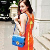 Tammy tangs sugar 2012 summer fashion high waist candy color orange chiffon jumpsuit short skirt
