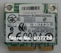 100%  new Broadcom BCM94322HM8L 504664-001 Half-height Mini PCI-E WLAN WIFI wireless card for  HP DV2 DV3 DV6 DV7 4300 ect .