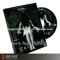 Free Shipping! Paul Harris Presents Haunted by Peter Eggink (DVD and Gimmick)  ,New Year wholesale magic tricks