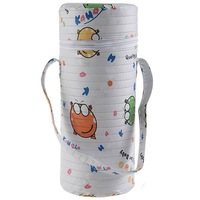 KAWA Cylinder Baby Feeding Bottle Holder Warmer with Zipper Closure & Handy Loop Single Assorted Color& Pattern-204906