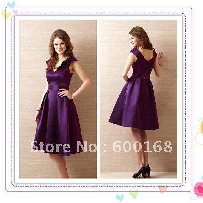 Zhenzhen elastic satin dark purple bridesmaid dress china mainland