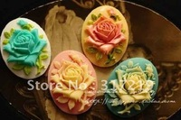 Free Shipping~!! 50pcs 30*40mm Europe resin pandants resin flower cabochon ,resin cameos resin handcraft