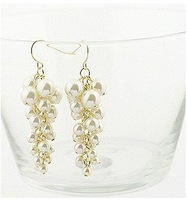 New Arrival Lovely Simulated Pearl Grape bunch Drop Earrings E25