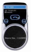 Solar Car kit, Bluetooth handsfree car kit, TTS Voice report,Louder speaker