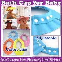 NEW Adjustable Safe Shampoo Shower Bath Cap for Baby Children_Free Shipping