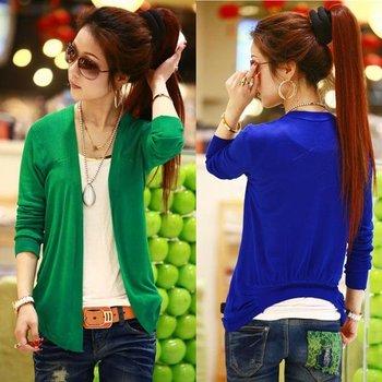 Fashion Multi colors Women Ladies Casual Knit Coat Top Sweater Cardigan Tops Coat  # L03468