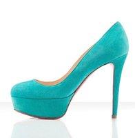 120mm Turquoise Suede Pumps elegant style top sale sandals
