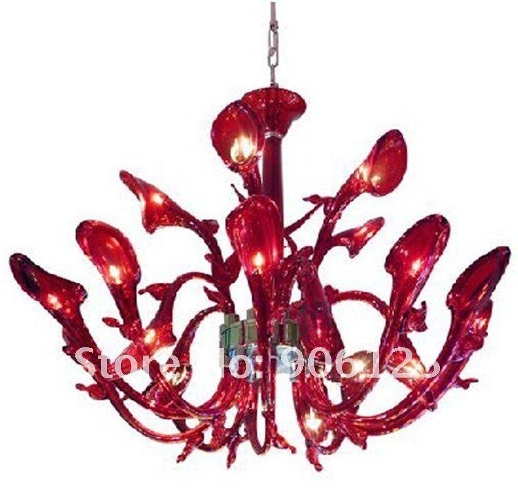 New  16 Light   Italian Calla lily Glass  Flower Chandelier  (Murano Glass ) Guaranteed100%+Free ...