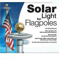 Solar Flag Pole Flagpole flagpoles Light 20 LEDs Top Mount For yard Garden decor