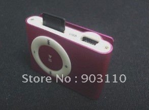 1000pcs/lot free shipping MINI Flash Gift clip MP3 Player with 8 color support 8GB Micro SD(TF) card slim mp3 player mp4(China (Mainland))