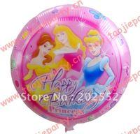 Free shipping 50pcs/Lot 18 inches foil balloon ,Princess design