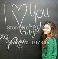 Free shipping+ 45*200cm DIY blackboard sticker creative chalkboard memo kids gift Wholesale and Retail