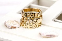 LOL-MALL forever best friend fashion rings for women Jewelry (MINIMUM.CAN MIXED ORDER $16)