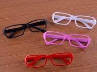 Free shipping four color 10pieces/lot Fashionable Sunglasses no glass lens Men's Sunglasses Women's glasses
