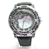 20PCS/Lot 2012 Hot Sale Fashion Hello kitty Watch Quartz Watches Crystal wristwatch for Women Children Girls watch Cheap Watch