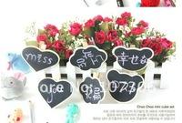Free shipping+ 2012 kids wooden blackboard clip chalk board message board 8*6*7cm