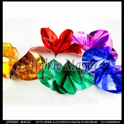 Free shipping,Appearing spring flowers from finger tip Magic tricks,5pcs/lot, for magic flower wholesale(China (Mainland))