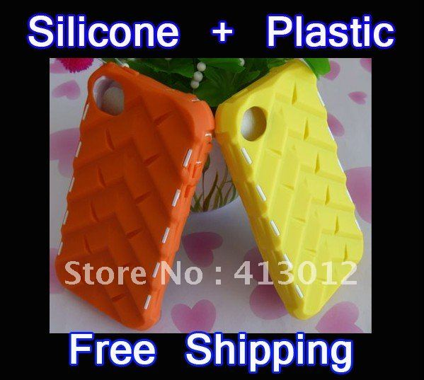 20Colors Silicone Hard Plastic Tire Wheel Robot Case Cover For iphone 4 4S Covers 25PCS/lot(China (Mainland))