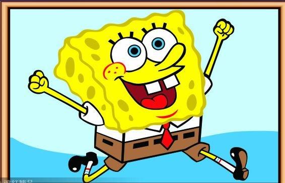 gratis-verzending-diy-spongebob-olieverfschilderij-tekening-van-geen ...