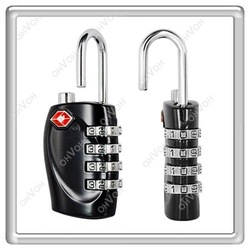 S5Y 4 Dial TSA Combination Padlock Luggage Suitcase Bag Travel Security Lock New(China (Mainland))