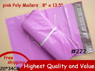 producer price [PINK] COLOR POLY MAILERS ENVELOPE SHIPPING BAGS 8 x 13.5 Inch 200x340mm 50PCS(China (Mainland))