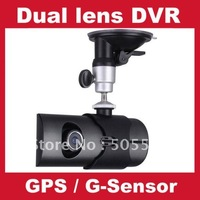 "Free shipping,X3000 DVR Car camera with Dual Lens front and back car camera with GPS G-Sensor 2.7""LCD and 2.0 mega pixel"