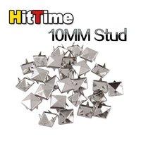 200Pcs 10MM Pyramid Studs Spot Nickel Punk Rock Spike Heavy DIY Leather Craft [12263|01|02
