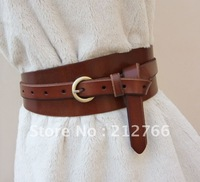 Free shipping!!!Korean Ms. pure leather leather belt decorative girdle wild first layer of leather wide belt