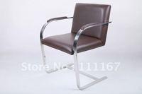 aniline leather brno flat bar chair