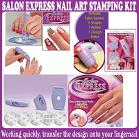 5 sets/Lot_NEW SALON EXPRESS NAIL ART STAMPING KIT CREATE 100'S OF DESIGNS_Free Shipping