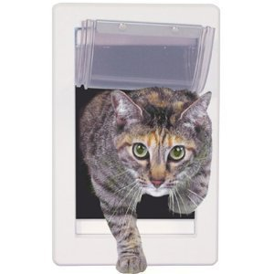 4 Way Small Pet Kitten puppy doggie Supply Lock Lockable Safe soft cat Flap Door