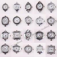 20pcs Bulk Mixed Assorted Silver Tone Quartz Watch Face Fit Watch Accessories DIY 151649