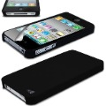 Black Hybrid Hard Shell Case Ultra Thin Cover For iPhone 4 4S Siri + Film Guard