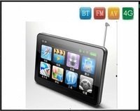 Newest!!! Free shipping 7 Inch TFT screen Car GPS with BT,FM,AV-In FM, DVR functions