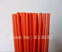 wholesale Free shipping paper straws,orange, 500pcs/lot