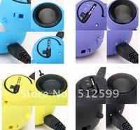 Wholeasle 100pcs Colorful speaker Mini audio Hamburger Mp3 mp4 Mobile Phone portable Speakers Music Player