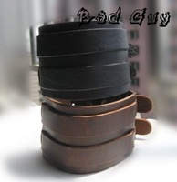 sl180 100% genuine leather bracelet,high quality cowhide,wrap leahter bracelets & bangles,Punk Style,fashion jewelry