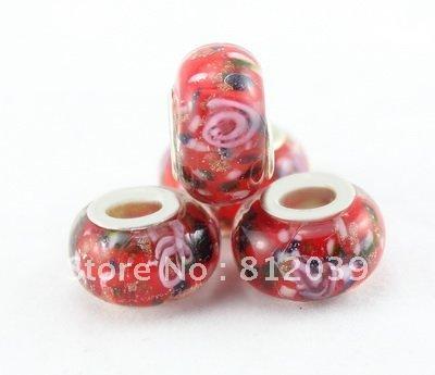 $10 OFF PER $100 20pcs/lot Fashion Beads Charmy Big Hole Glass Beads Coloured Glaze Beads For Jewelry Making GB055(China (Mainland))
