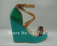 2012 Fashion women's shoes peep-toe High Heels + free shipping