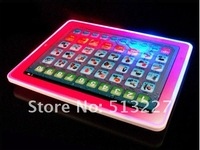 free shipping 5 pcs  ipad learning machine Lantern touch screen Tablet PC red English learning machine