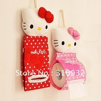 P2 Cute Hello Kitty Head shaped Tissue Roll Holder,  Novelty Gift Toy