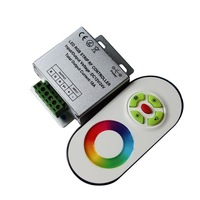 RF Wireless RGB Led Controller with Touch Remote, DC12V~DC24V 216W~432W