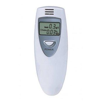 Original!!!100pcs/lot Mini Breathalyzer Breath Tester Alcohol Digital Analyzer LCD White Free Shipping